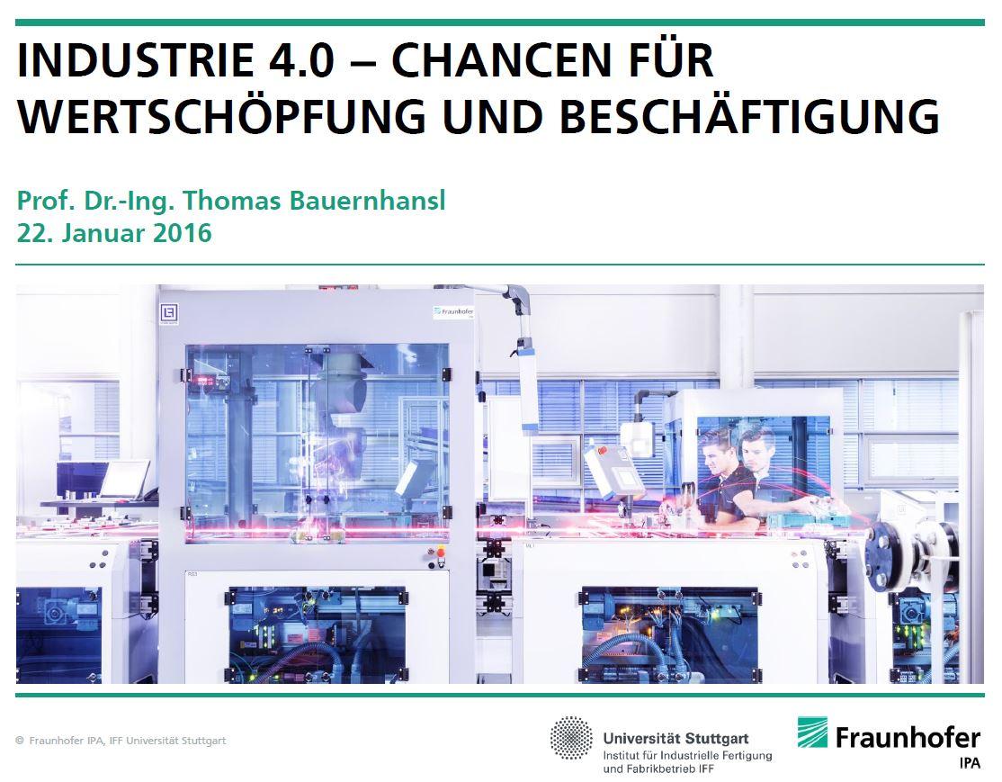 Industrie 4.0 - Chancen für Wertschöpfung und Beschäftigung
