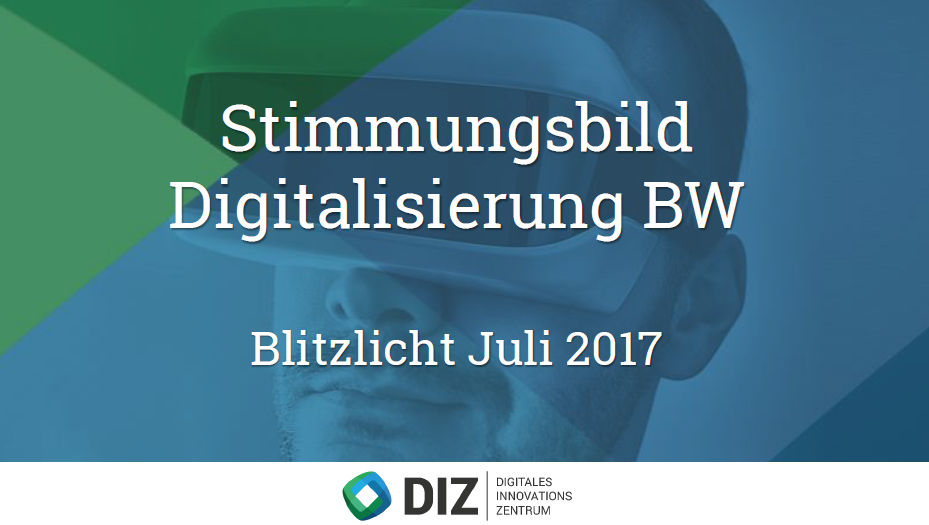 Online-Studie: Stimmungsbild Digitalisierung BW (Blitzlicht Juli 2017)