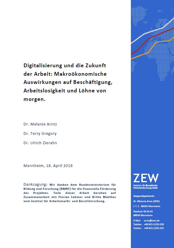 Digitalisierung und die Zukunft der Arbeit: Makroökonomische Auswirkungen auf Beschäftigung, Arbeitslosigkeit und Löhne von morgen.