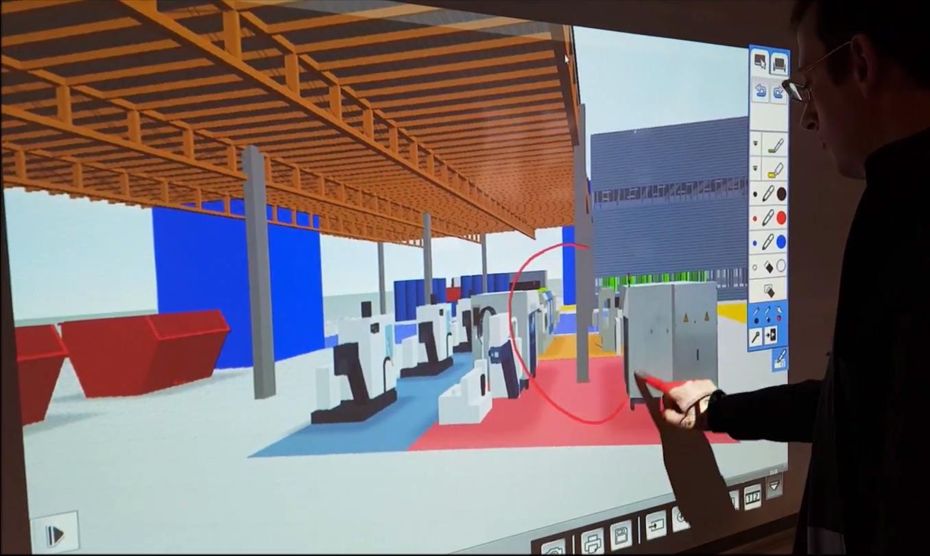 Virtuelle Farbrikplanung